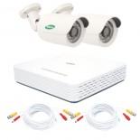 KIT videosorveglianza AHD 720p - DVR 4 canali - 2 telecamere DEMACAM