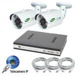 KIT videosorveglianza IP - NVR 4 canali - 2 telecamere IP Megapixel