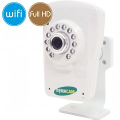 IP camera wireless DEMACAM WiFi - 1080p (1Mpx - HD) - IR 8m - audio - microSD