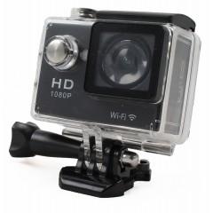 Telecamera sportiva Full HD 1080p - 2 Megapixel - Nera - Waterproof