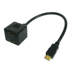Splitter video cable HDMI M to 2 x HDMI F
