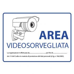 Cartello di videosorveglianza - omologato