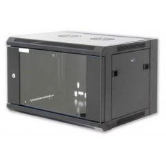"Cabinet 19"" for Electronic Equipment Rack 6U black - Full optional"