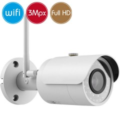 Telecamera wireless IP WiFi - 3 Megapixel / Full HD (1080p) - microSD - IR 30m