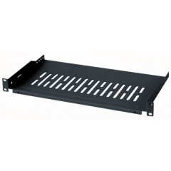 "Cantilever Shelf 250mm 1U rack 19"" black"