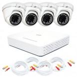 KIT videosorveglianza AHD 1080N - DVR 4 canali - 4 telecamere dome DEMACAM