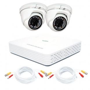 KIT videosorveglianza AHD 1080N - DVR 4 canali - 2 telecamere dome DEMACAM