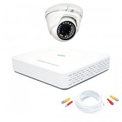 KIT videosorveglianza 1080N - AHD 1 DVR 4 canali - 1 telecamera dome DEMACAM