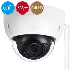 Telecamera dome wireless IP WiFi - 3 Megapixel / Full HD (1080p) - microSD - IR 30m