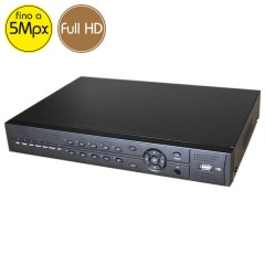 Videoregistratore AHD ibrido COMBO - DVR 4 canali 5 Megapixel - ALLARMI - HDMI Ultra HD 4K