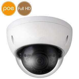 Telecamera dome IP PoE - Full HD (1080p) - IR 30m - IK10