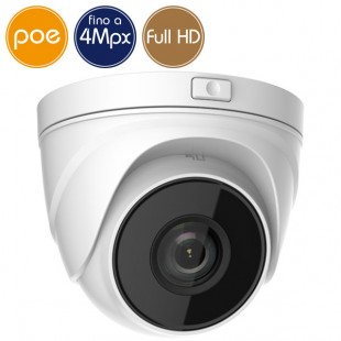 Telecamera dome IP SAFIRE PoE - 4 Megapixel - Ottica motorizzata 2.8-12mm - IR 30m