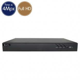 Videorecorder IP NVR SAFIRE 4 cameras - 4 Megapixel / Full HD - VGA HDMI