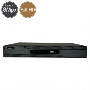 Videoregistratore IP NVR SAFIRE 4 telecamere - 8 Megapixel / Full HD - Ultra HD 4K