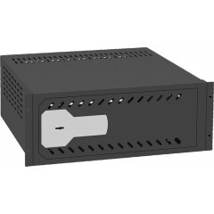 """1U rack DVR safe - Rack 19"""" - Specification for CCTV - mechanical security lock"""