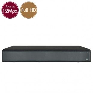 Videorecorder IP NVR 16 - 12 Megapixel / Full HD - Alarms RAID Ultra HD 4K