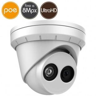 Telecamera dome IP SAFIRE PoE - 8 Megapixel Ultra HD 4K - microSD - IR 30m