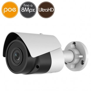 Telecamera IP SAFIRE PoE - 8 Megapixel Ultra HD 4K - microSD - IR 30m