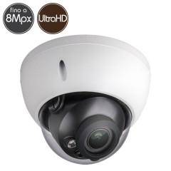 HDCVI dome camera - 8 Megapixel Ultra HD 4K - Motorized lens 3.7-11mm - IR 50m