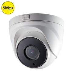 Telecamera dome HDTVI SAFIRE - 5 Megapixel - Ottica motorizzata 2.8-12mm - IR 40m