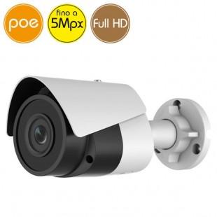 Telecamera IP SAFIRE PoE - 5 Megapixel / Full HD (1080p) - microSD - IR 30m