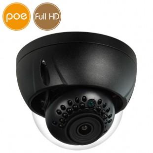 Camera dome IP PoE - Full HD (1080p) - Black - IR 30m - IK10