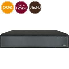 Videoregistratore IP NVR PoE 32 - 12 Megapixel / Full HD - ALLARMI RAID Ultra HD 4K