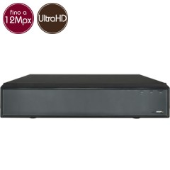 Videoregistratore IP NVR 64 - 12 Megapixel / Full HD - ALLARMI RAID Ultra HD 4K