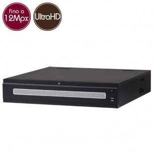 Videoregistratore IP NVR 128 - 12 Megapixel / Full HD - ALLARMI RAID Ultra HD 4K