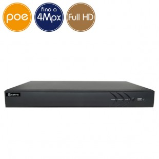 Videorecorder IP NVR PoE SAFIRE 4 cameras - 4 Megapixel / Full HD - VGA HDMI