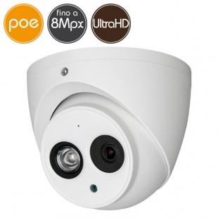 Telecamera dome IP PoE - 8 Megapixel Ultra HD 4K - Ultra Low Light - microSD - IR 50m