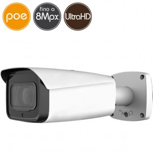 Telecamera IP PoE - 8 Megapixel Ultra HD 4K - motorizzata 7-35mm - microSD - IR 100m