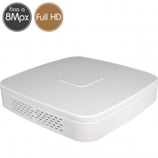 Videoregistratore IP NVR 4 telecamere - 8 Megapixel / Full HD - VGA HDMI Ultra HD 4K