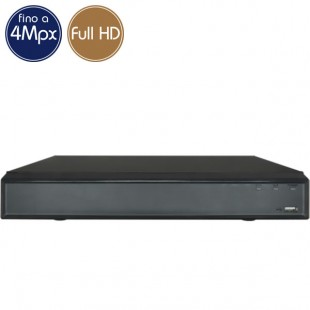 Videoregistratore HD ibrido - DVR 4 canali 4 Megapixel - ALLARMI VGA HDMI