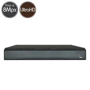 Videoregistratore HD ibrido - DVR 16 canali 8 Megapixel Ultra HD 4K - VGA HDMI