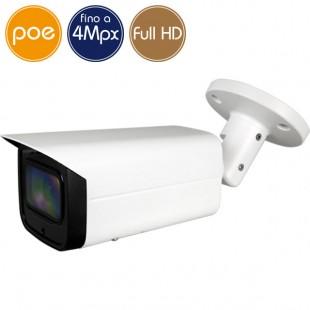 Telecamera IP PoE - 4 Megapixel / Full HD - motorizzata 2.7-13.5mm - microSD - IR 60m