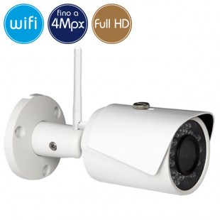 Telecamera wireless IP WiFi - 4 Megapixel / Full HD (1080p) - microSD - IR 30m