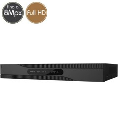 Videoregistratore HD ibrido SAFIRE - DVR 8 canali 8 Megapixel Ultra HD 4K - ALLARMI HDMI