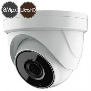 HDTVI dome camera SAFIRE - 8 Megapixel - Motorized lens 2.8-12mm - IR 80m