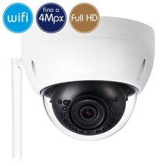 Dome camera wireless IP WiFi - 4 Megapixel / Full HD (1080p) - microSD -IR 30m
