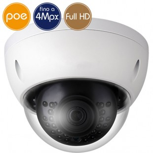 Camera dome IP PoE - 4 Megapixel / Full HD (1080p) - IR 30m