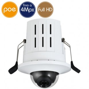 Recessed Mount camera IP PoE - 4 Megapixel / Full HD (1080p) - microSD