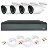 KIT videosurveillance HD 1080p - Full HD - DVR 4 channels - 4 cameras