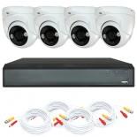 KIT videosorveglianza HD 1080p - Full HD - DVR 4 canali - 4 telecamere dome