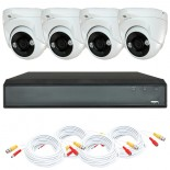 KIT videosurveillance HD 1080p - Full HD - DVR 4 channels - 4 dome cameras
