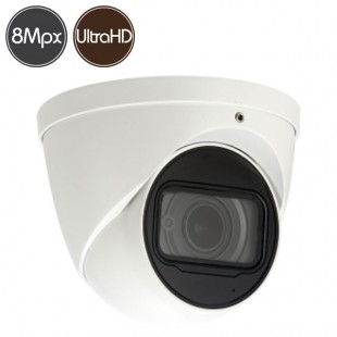 HDCVI dome camera - 8 Megapixel Ultra HD 4K - Low Light - IR 50m