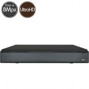 Videoregistratore HD ibrido - DVR 4 canali 8 Megapixel Ultra HD 4K - VGA HDMI