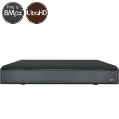 Videoregistratore HD ibrido - DVR 8 canali 8 Megapixel Ultra HD 4K - VGA HDMI
