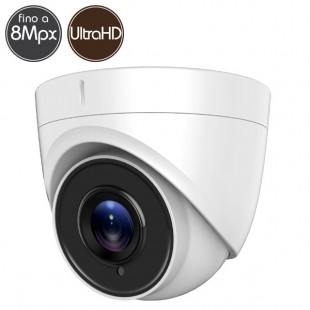 HDTVI dome camera SAFIRE - 8 Megapixel - Low Light - IR 60m