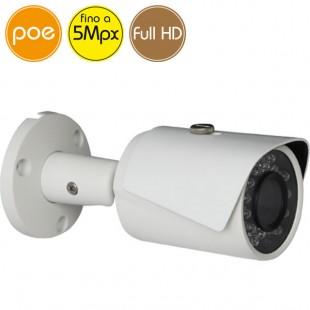 Telecamera IP PoE - 5 Megapixel / Full HD (1080p) - IR 30m